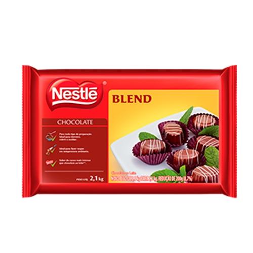 Barra de Chocolate Nestlé Blend ao Leite - 2,1kg