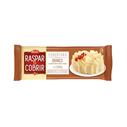 BARRA CHOC HARALD RASP/COB BRANCA 2,1 KG