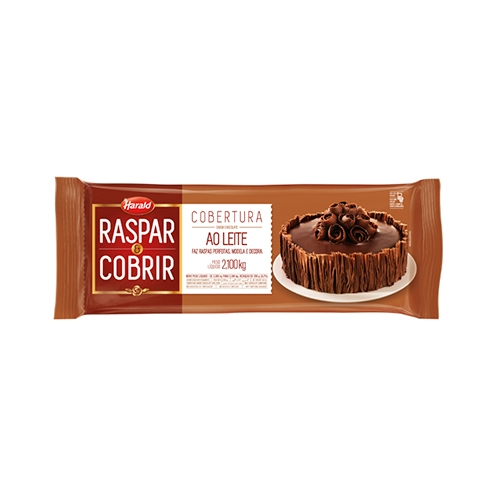BARRA CHOC HARALD RASP/COB LEITE 2,1 KG