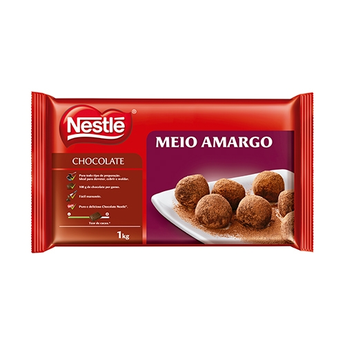 BARRA DE CHOCOLATE NESTLE MEIO AMARGO 1KG