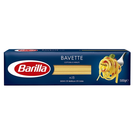 MACARRÃO BAVETTE BARILLA 25/500 GR