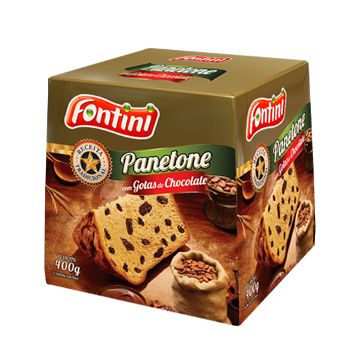 PANETONE CHOCOLATE FONTINI CX 18/400 GR