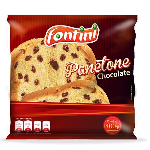 PANETONE CHOCOLATE FONTINI SC 16/400 GR