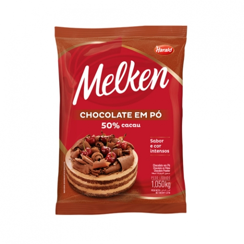 Chocolate em pó 50% Melken 1,050kg