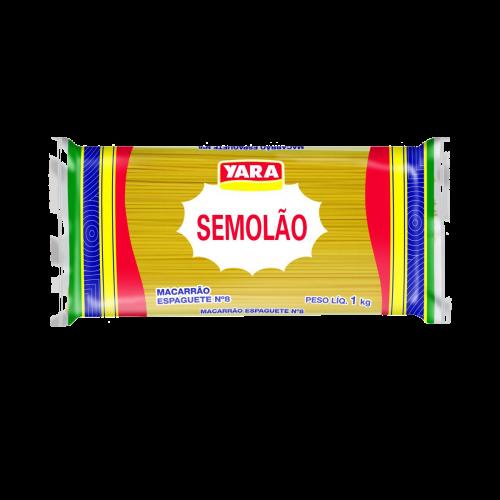 MACARRÃO SEMOLÃO YARA ESPAGUETE N 8 15/1 KG