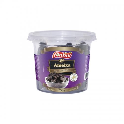Ameixa Seca com Caroço Pote - 12 und. 250 gr