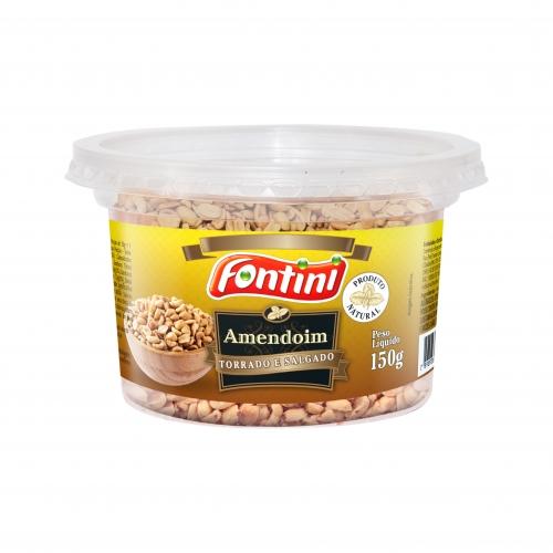 Amendoim Pote Torrado Salgado Fontini - 12 und. 150 gr