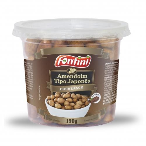 Amendoim pote Churrasco Fontini 12 und. 190 gr