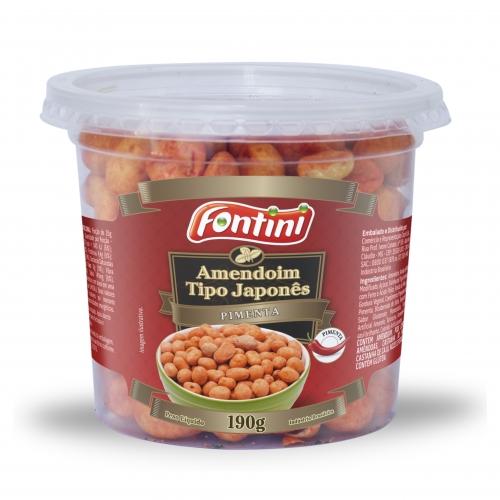 Amendoim pote Pimenta Fontini 12 und. 190 gr