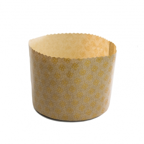 Forma p/ Panetone Decorada 500 grs - 100 uni.