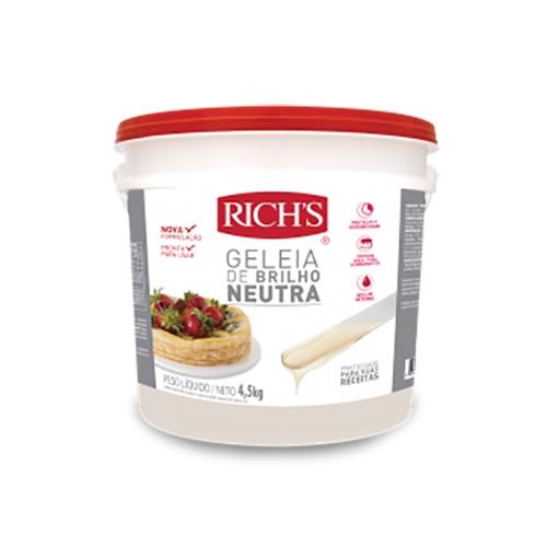 Rich's Geleia de Brilho Neutra - Balde 4,5Kg