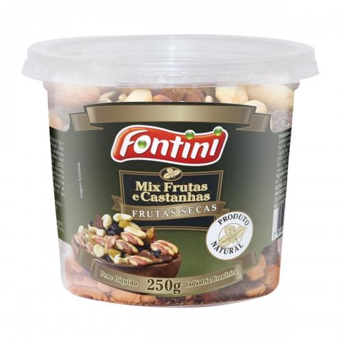 Mix de Frutas e Castanhas Pote - 12 und. 250gr