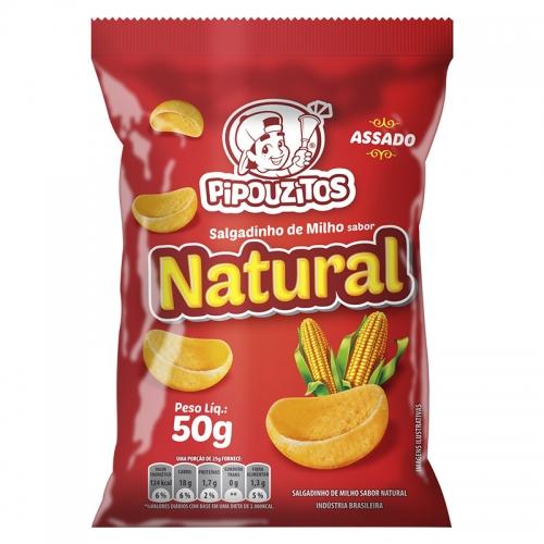 SALGADINHO NATURAL PIPOUZITOS 10/50 GR