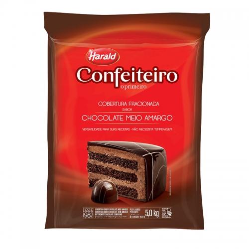 Barra de Chocolate Confeiteiro Meio Amarga 5kg