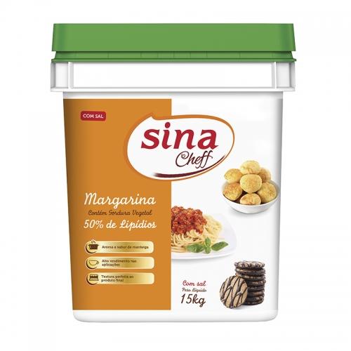 Margarina Sina 50% Lipídeos 15 Kg