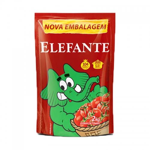 EXTRATO TOMATE ELEFANTE POUCH 2 KG