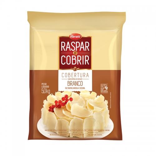 Barra de Chocolate Harald Raspar e Cobrir Branca 5Kg