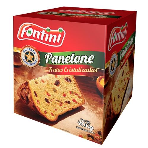 PANETONE C/ FRUTAS FONTINI CX 18/400 GR