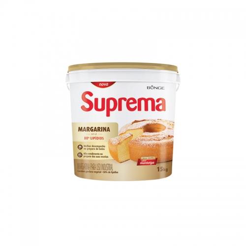 MARGARINA SUPREMA 80% LIP BALDE 15 KG