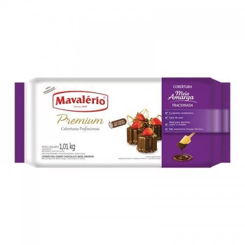 Barra de Chocolate Mavalério Meio Amargo 1,01kg