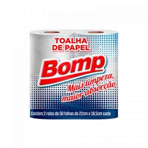 Papel Toalha Folha Dupla Bomp - 2 und. com 50 folhas