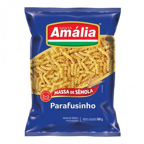 MACARRÃO SÊMOLA SANTA AMÁLIA PARAFUSINHO 20/500G