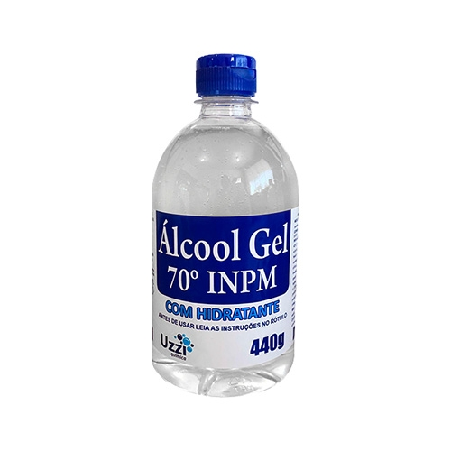 ÁLCOOL GEL 70° UZZI CLEAN 12/440 GR