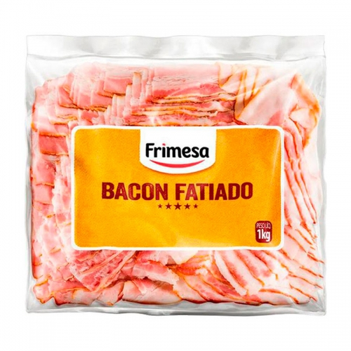 Bacon Fatiado Frimesa  - Caixa com 7 unidades de 1kg