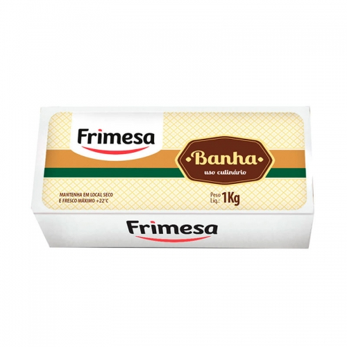 Banha Suína Frimesa - 18 uni. de 1Kg