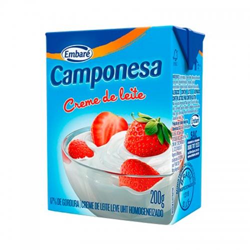 Creme de Leite Camponesa - 27 uni. de 200g