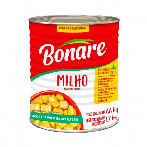 MILHO VERDE BONARE LATA 1,7 KG