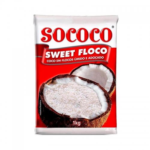 COCO QUEIMADO FLOCOS SOCOCO 1 KG