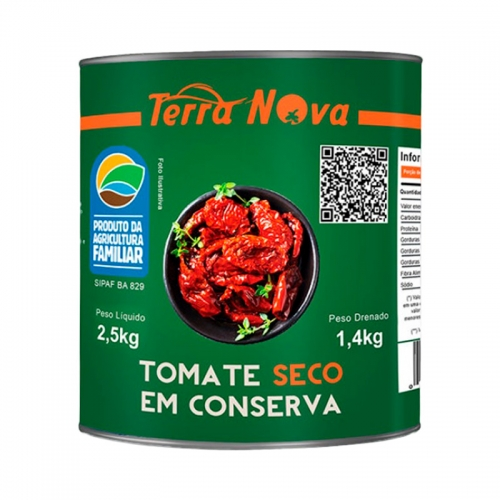 TOMATE SECO EM CONSERVA TERRA NOVA LT DRENADO 1,4 KG
