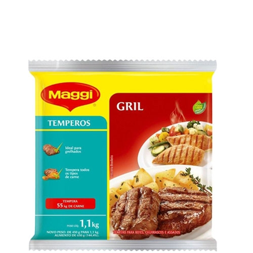 Tempero Grill Maggi Nestlé para Carnes 1,1kg