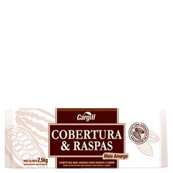 Barra Chocolate Cargill Raspas e Cobertura Amargo 2,5kg