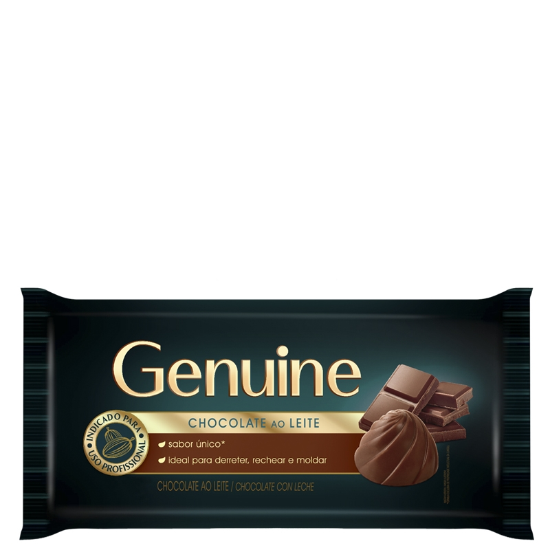 Barra de Chocolate Genuine ao Leite 2,1Kg