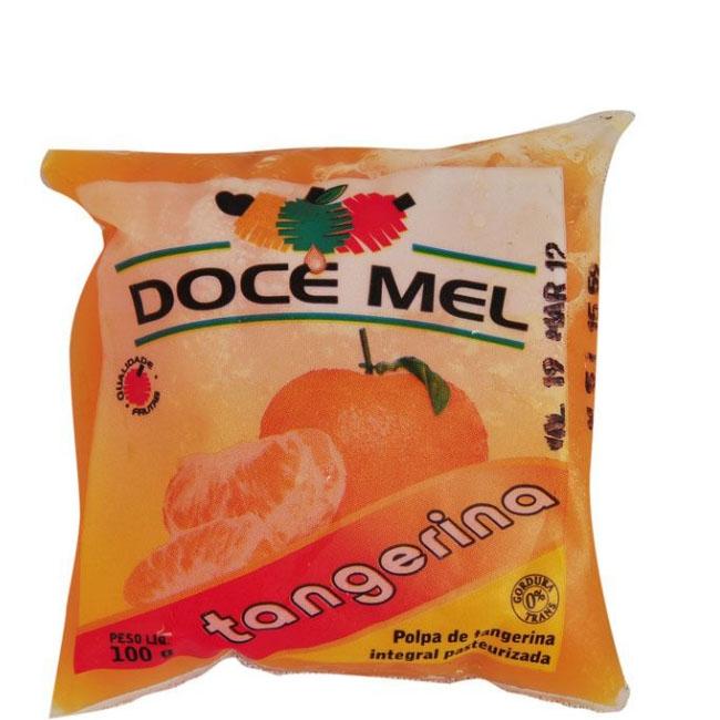 Polpa de Fruta Doce Mel Tangerina - Pacote com 10 uni. de 100grs