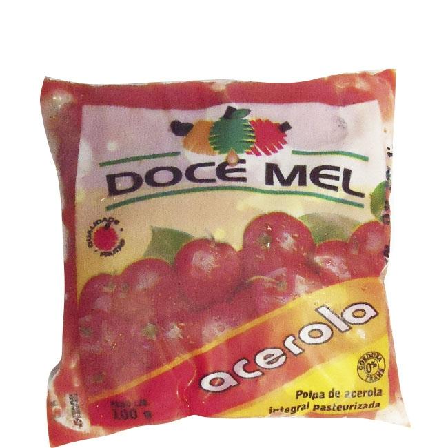 Polpa de Fruta Doce Mel Acerola - Pacote de 10 uni. de 100grs