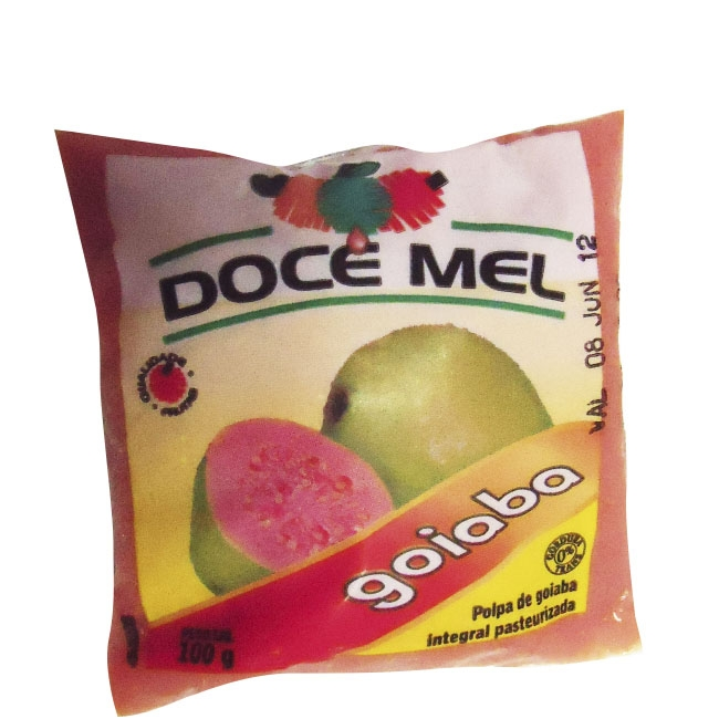 Polpa de Fruta Doce Mel Goiaba - Pacote de 10 uni. de 100grs