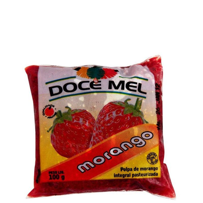 Polpa de Fruta Doce Mel Morango - 10 uni. de 100grs