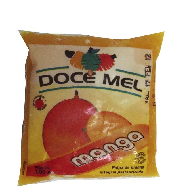 Polpa de Fruta Doce Mel Manga - Pacote de 10 uni. de 100grs