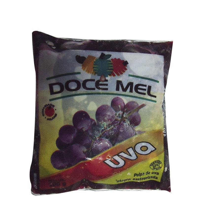 Polpa de Fruta Doce Mel Uva - Pacote de 10 unidades de 100grs