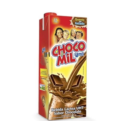 Achocolatado Chocomil - caixa com 12 uni. de 1lt