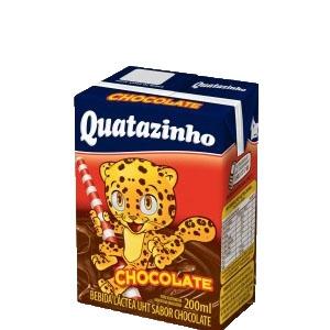 Achocolatado Quatazinho - caixa com 27 uni. de 200ml