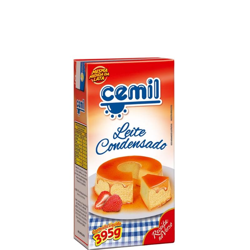 Leite Condensado Cemil TP - caixa com 27 uni. de 395grs