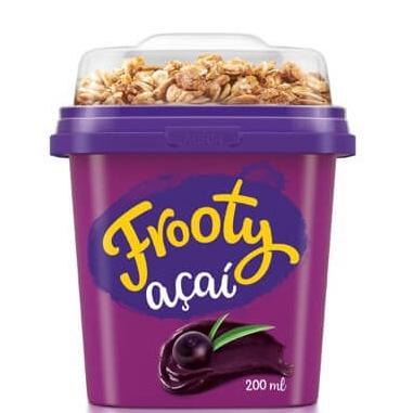 Creme de Açaí Natural Frooty com Granola - 12 und. de 200 g