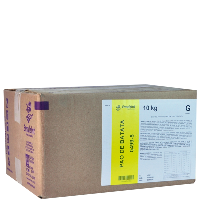 Pré Mistura Pão de Batata 0499-5 Emulzint - 10kg