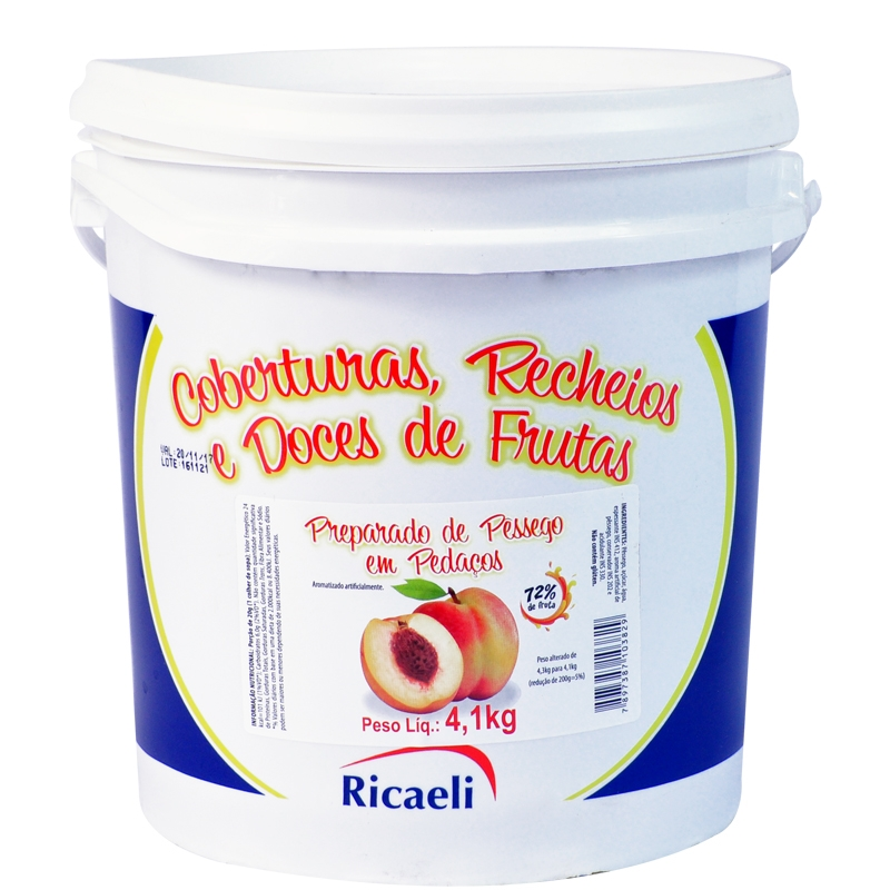Polpa de Pêssego Ricaeli 4,1kg
