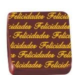 Stalden Transfers Felicidades Amarelo Folha 30x40cm