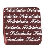 Stalden Transfers Felicidades Branco Folha 30x40cm